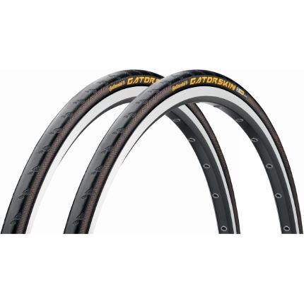 continental gatorskin road wire bead tyres 25c pair
