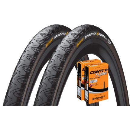continental grand prix 4 season 23c tyres 2 tubes