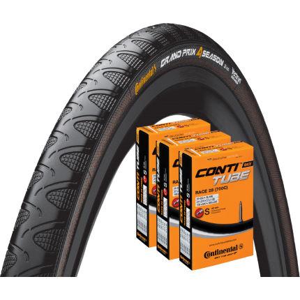 continental grand prix 4 season 25c tyre 3 tubes