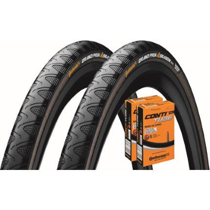 continental grand prix 4 season 25c tyres 2 tubes