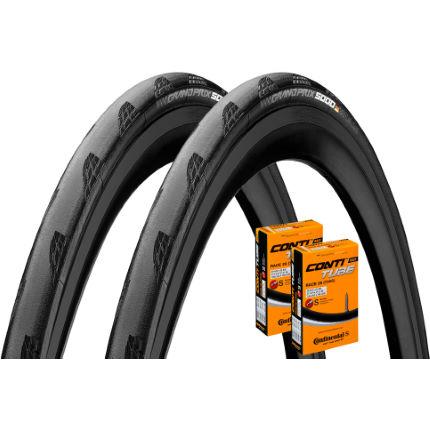 continental grand prix 5000 28c tyres tubes pair