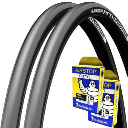michelin pro4 endurance grey 23c tyres tubes