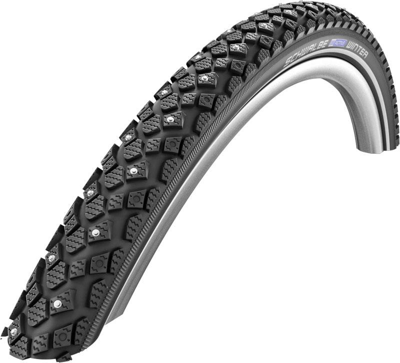schwalbe winter kevlar guard rigid spiked road tyre